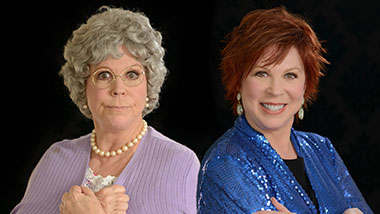"Vicki Lawrence as herself and her character ""Mama"""