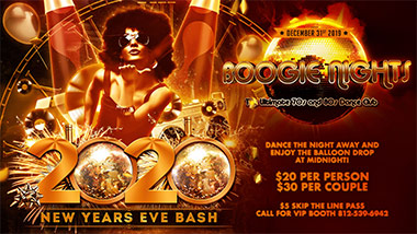 New Years Eve at Boogie Nights